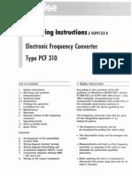 Precise PCF 310 Operating Manual
