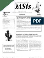 December 2007 OASis Newsletter Orange Audubon Society