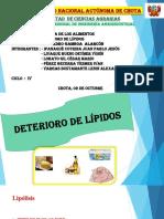 Deterioro de Lípidos - Exposición