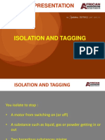 Safety Isolation and Tagging