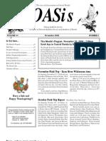 November 2008 OASis Newsletter Orange Audubon Society