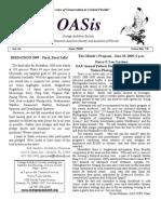 June 2009 OASis Newsletter Orange Audubon Society