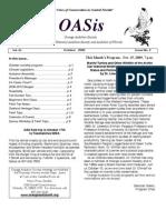 October 2009 OASis Newsletter Orange Audubon Society