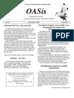 November 2009 OASis Newsletter Orange Audubon Society