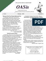 February 2010 OASis Newsletter Orange Audubon Society
