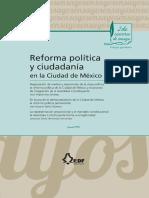Ensayo En busca de la democratización de la Ciudad de México. La reforma política permanente