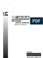 Akai S2000 Manual