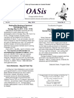 May 2010 OASis Newsletter Orange Audubon Society
