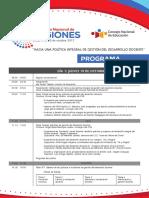 Programa XII Encuentro Nacional de Regiones