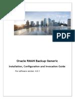 Oracle RMAN Generic Backup