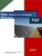 Perú Subasta de Energía Eolica 2013