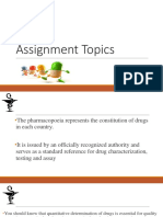 Assignment Topics