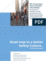 Safety Culture Development - Kalinda Dasanayaka