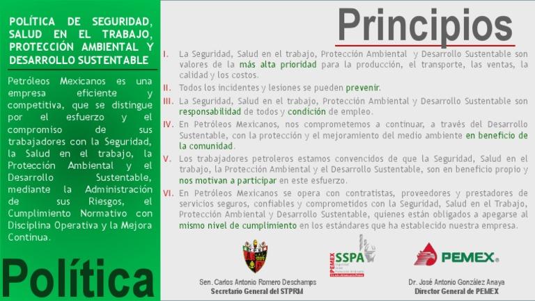 Política SSPA 6 Principios - photo#13