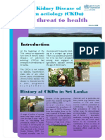 WHO 2008 CKDu a New Threat to Health