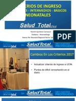 criterios admisión UCIN  12 de octubre 2017