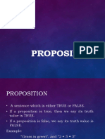 Proposition Report