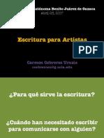 Conferencia-Escritura Para Artistas