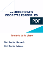 Distribuciones discretas especiales