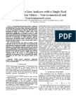 Transmission Line Analyses With a Single Real Transformation Matrix