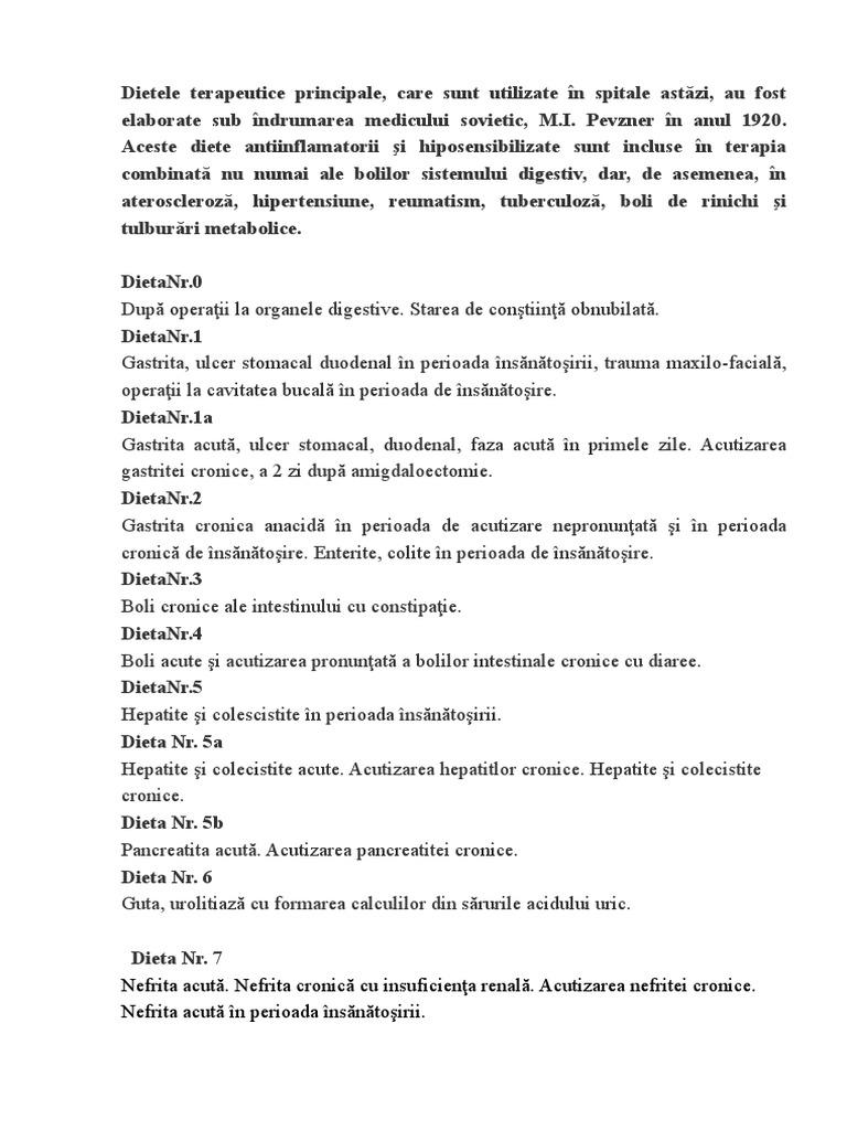 Dieta terapeutică de Pevsner: principii de bază. mese dietetice №4 și №5