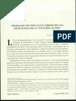 Chartier- Trabajar Con Foucault-Genealogía de La Función Autor