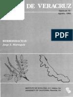 Flora de Veracruz Berberidaceae