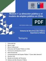 2 Mod 1 - Dirección Pública y Modelo de Empleo Público en Chile