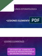 Lesiones elementales primarias (estomatología)
