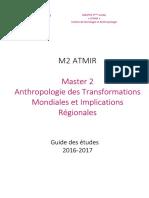 Version Définitive Atmir Guide Des Études M2