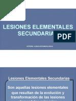 Lesiones elementales secundarias (estomatología)