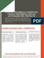 Plan de Desarrollo Gerencial Para El Desarrollo De