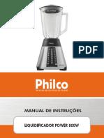 Liquidificador Philco Power 800W - 053101017_manual_manual