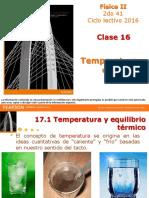 Clase 16 - Temperatura y Calor