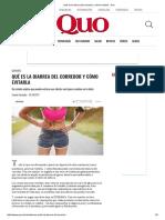 Qué Es La Diarrea Del Corredor y Cómo Evitarla - Quo