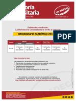 Boletin Defensoria Universitaria Crononograma 2017-2