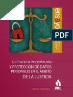 Acceso a La Información y Protección de Datos Personales en El Ámbito de La Justicia