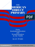 Alan Ware the American Direct Primary Party Institutionalization and Transformation in the North