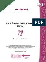 Enseñanza Del Idioma Maya Modulo 3