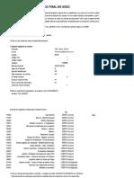 Ejercicio de contabilidad para trabajo final de curso