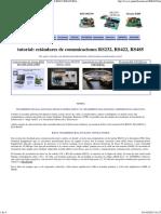 Estandar de Comunicaciones Interfaz Rs232 Rs422 Rs485 Punto Flotante s.a.
