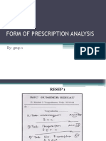 Form of Prescription Analysis