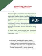 Características Del Niño Con Retraso Mental o Discapacidad Intelectual