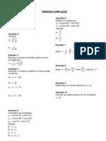 Lista Complexos Polinomios e Equacoes