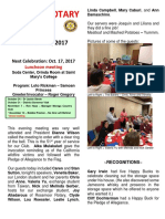Moraga Rotary Newsletter October 10, 2017