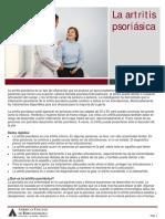 Psoriatic Arthritis Spanish