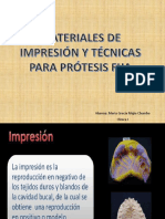 Materiales de Impresión y Técnicas Para Prótesis Fija