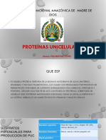 Proteinas uniceluares exposicion
