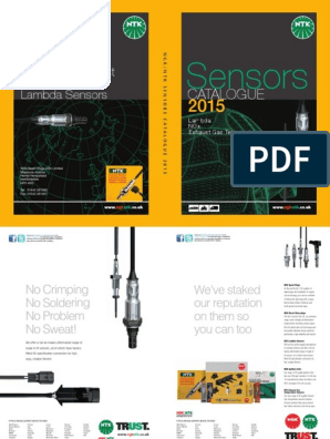 ntk-Sensor-Catalogue-2015 pdf | Exhaust Gas | Internal Combustion Engine
