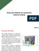 Ppt Metodo de Esplotacion Sublevel Stoping